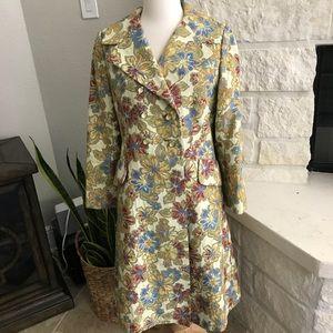 Vintage Neiman Marcus Brocade Long Coat Jacket 8